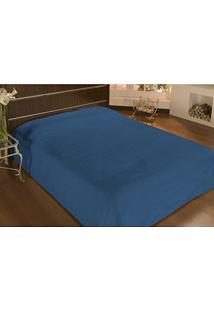 Cobertor Solteiro Microfibra Liso 1,50X2,20M Azul Royal - Camesa