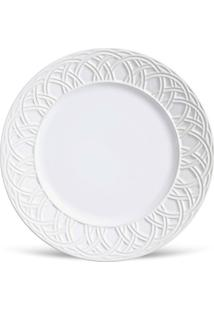 Conjunto 6Pçs Pratos Rasos Porto Brasil Cestino Branco