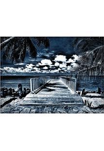 Jogo Americano Decorativo, Criativo E Descolado | Pier Azul - Tamanho 30 X 40 Cm
