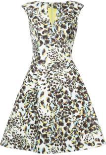 Rubin Singer Vestido Com Estampa Leopardo - Branco