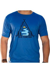 Camiseta Masculina Eco Canyon Draw Azul