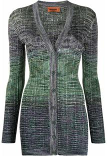 Missoni Cardigan Color Block - Verde