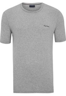 Camiseta Malha Básica Cinza Mescla