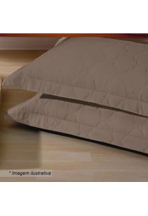 Porta Travesseiro Platine- Marrom- 70X50Cm- 300 Buettner