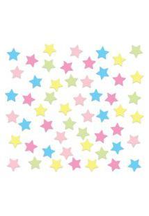 Adesivo De Parede Estrelas Coloridas Candy Colors 54Un
