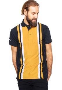 Camisa Polo Aleatory Listras Amarela