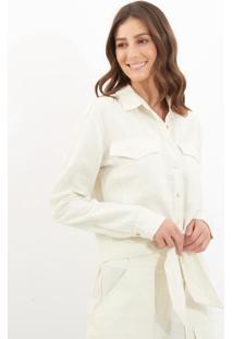 Camisa Le Lis Blanc Mariane Curta Alfaiataria Off White Feminina (Off White, 46)