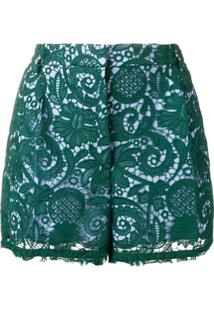 Nº21 Paisley Embroidered Shorts - Verde