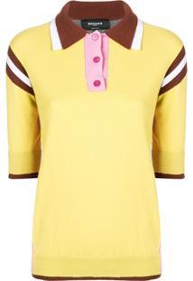 Farfetch. Rochas Camisa Polo Color Block - Amarelo 7ce66415a7711