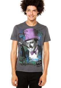 Camiseta Ellus 2Nd Floor Basic Penguim Cinza