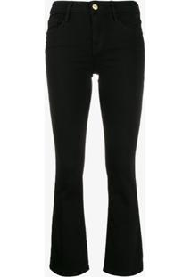 Frame Calça Jeans Slim Cropped - Preto