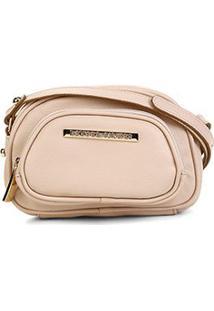 Bolsa Loucos & Santos Mini Bag Básica Feminina - Feminino-Bege Claro