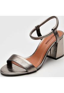 Sandália Bottero Metalizada Prata
