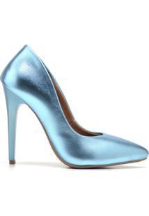 Scarpin Salto Alto Gisela Costa Azul