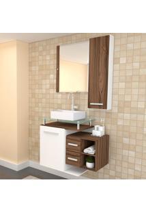 Conjunto De Gabinete Para Banheiro Com Cuba Amanda-Arteban - Marrom