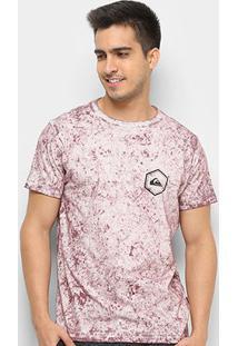 Camiseta Quiksilver Octo Dye Masculina - Masculino-Bordô