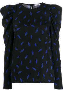 P.A.R.O.S.H. Blusa Com Estampa Lightening Bolt - Azul