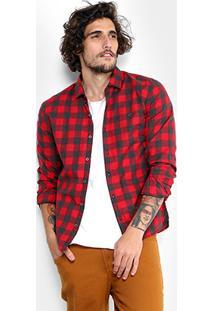 Camisa Xadrez Ellus Flanelada Masculina - Masculino
