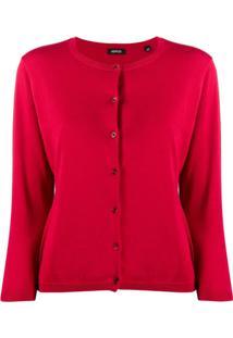 Aspesi Cardigan Decote Redondo - Vermelho