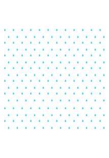 Adesivo De Parede Gotinhas Azul-Claras Para Quarto 151Un Cobre 3M2