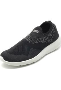 Tênis Coca Cola Shoes Fosco Preto