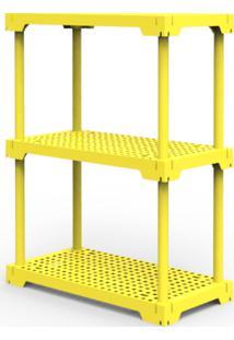 Estante Poly 3 Amarelo