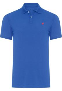 Polo Masculina Lhama Stretch - Azul