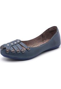 Sapatilha Bergally Conforto Azul