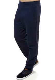 Calça Moletom Masculina Rovitex Azul Marinho