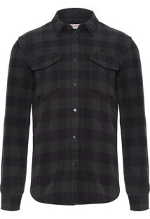 Camisa Masculina Plaid Skirt Jacket - Verde