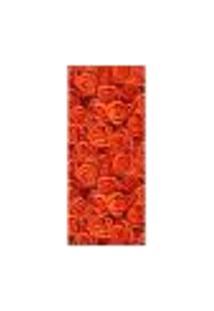 Adesivo Decorativo De Porta - Flores - Rosas - 2509Cnpt