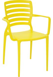Cadeira Tramontina 92036000 Sofia Hz Encosto Vazado C/ Braços Amarelo