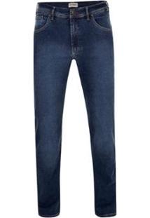 Calça Jeans Pierre Cardin Elastano Dual Fx - Masculino-Marinho