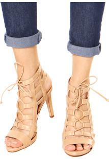 Sandália Dafiti Shoes Gladiadora Nude