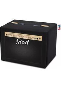 Puff Caixa Acústica Preto - Madeira - Good Pufes