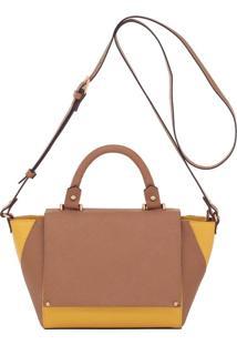 Bolsa Couro Smartbag Alça De Mão Camel/Amarelo - 79023.16