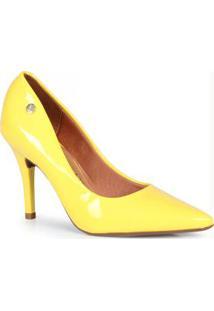 Sapato Scarpin Vizzano Bico Fino Amarelo