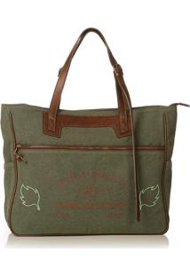Bolsa Blue Bags Tote Reciclada Bordado Terra - Kanui