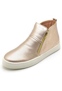 Bota Botinha Top Franca Shoes Hiate Word Rosê