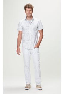 Camisa Slim Estampada Malwee