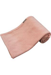 Cobertor Cuca Criativa Estampa Rosa