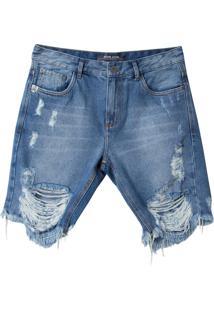 Bermuda John John Classica Arizona Jeans Azul Masculina (Jeans Claro, 46)