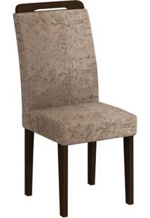 Cadeira Athenas 2 Peças - Castor - Sued Amassado Chocolate