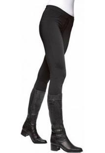 Calça Montaria Fashion Lupo Loba Feminina - Feminino-Preto