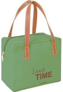 """Bolsa Térmica """"Lunch Time""""- Verde & Marrom Claro- 22Boxmania"""