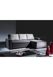 Sofá Cama Com Chaise Vizzi Tecido Sintético Vermelho Dt 01026352