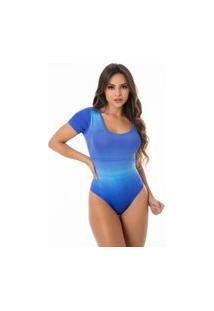 Body Estampado Azul