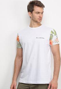 Camiseta Bulldog Fish Floral Bulldog - Masculino-Branco