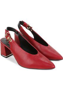 Scarpin Couro Jorge Bischoff Chanel - Feminino-Vermelho