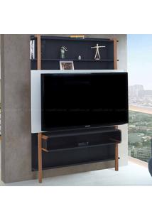 Estante Home Theater Para Tv Até 60 Polegadas Karl 180 X 134,8 X 25,5 Preto/Branco - Urbe Móveis
